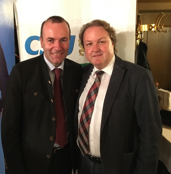 Mit Manfred Weber in Altdorf
